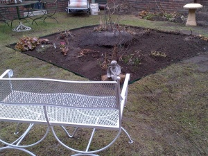 Dormant season - first bed, centre square bed